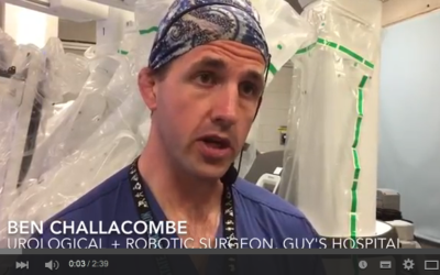 TRACERx Renal investigator performs robotic resection